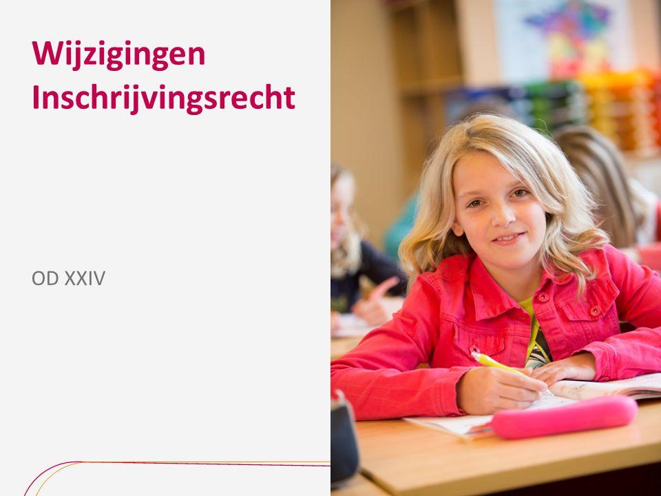 In werking treden van de nieuwe regelgeving De nieuwe regelgeving geldt voor het gewoon en het buitengewoon basisonderwijs.