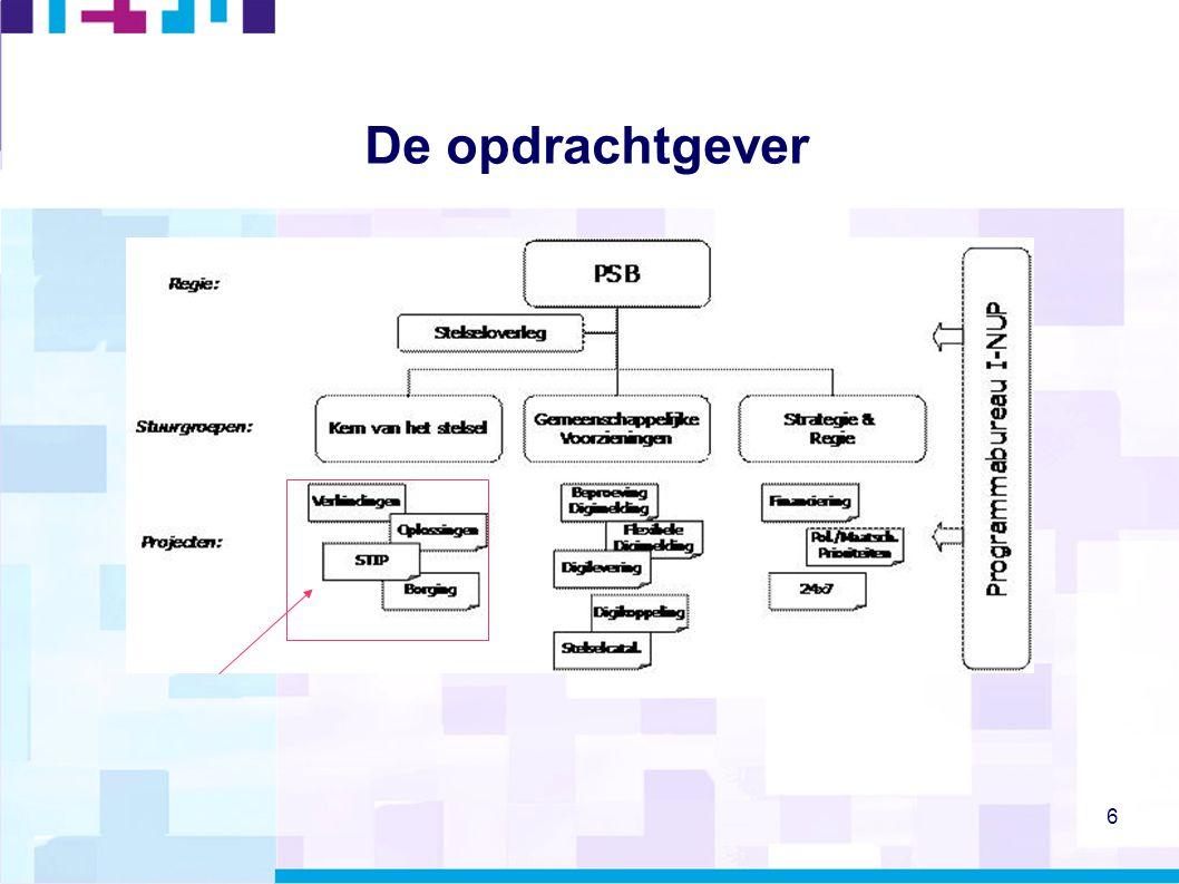 7 Ons werk: cluster STOUT  Opdrachtgever: BZK  Governance opdrachtgever: Stuurgroep Werkend Stelsel  Binnen RENOIR (Kenniscentrum, SBG..)  Vier projecten:  Verbinden (koppelingen data onderling, datakwaliteit)  Oplossingen (issuemanagement)  STIP (STelsel InformatiePunt)