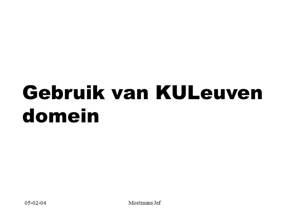 05-02-04Mostmans Jef Gebruik van KULeuven domein