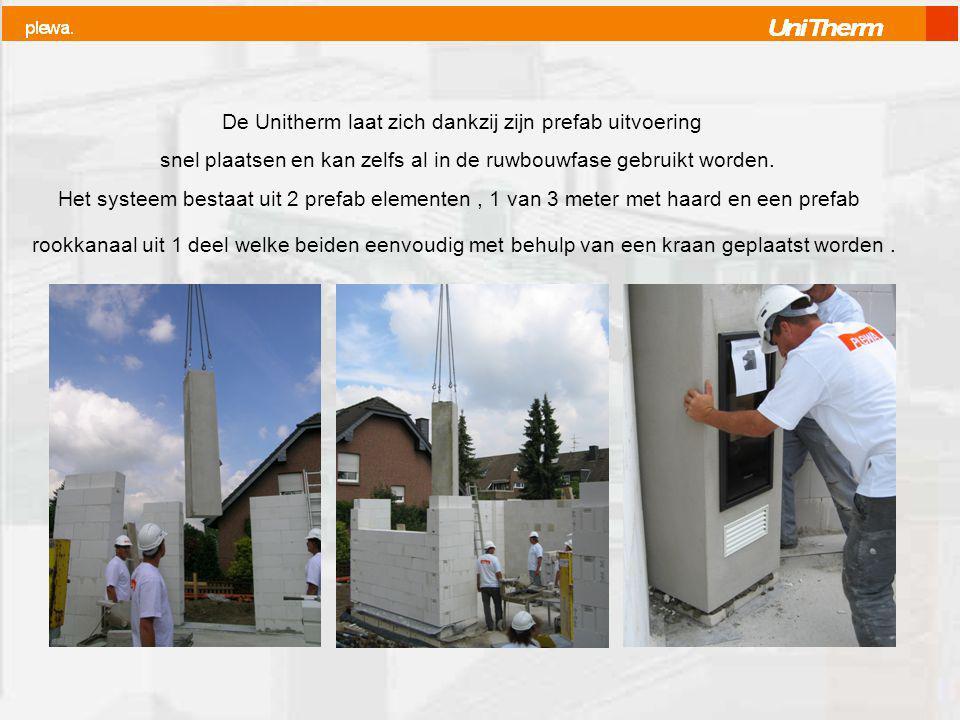 De Unitherm laat zich dankzij zijn prefab uitvoering snel plaatsen en kan zelfs al in de ruwbouwfase gebruikt worden.