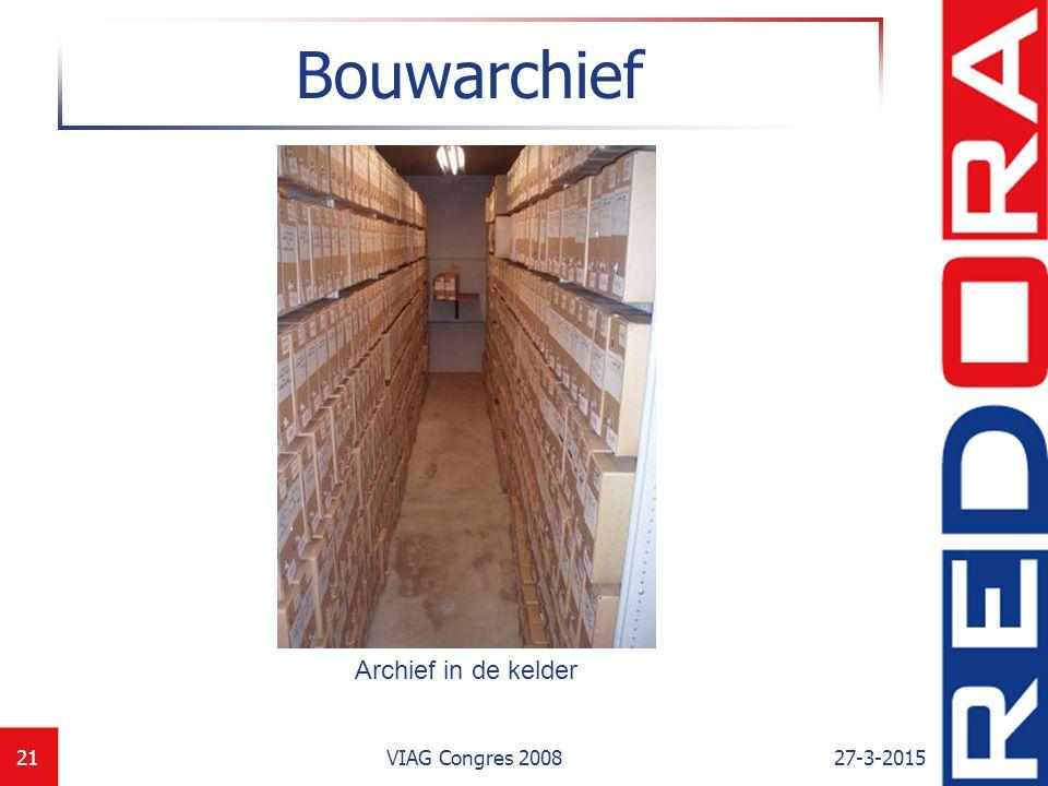27-3-2015VIAG Congres 200821 Bouwarchief Archief in de kelder