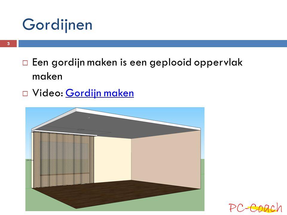 Gordijnen  Een gordijn maken is een geplooid oppervlak maken  Video: Gordijn makenGordijn maken 3