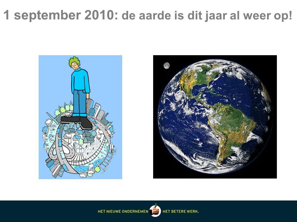 1 september 2010: de aarde is dit jaar al weer op!
