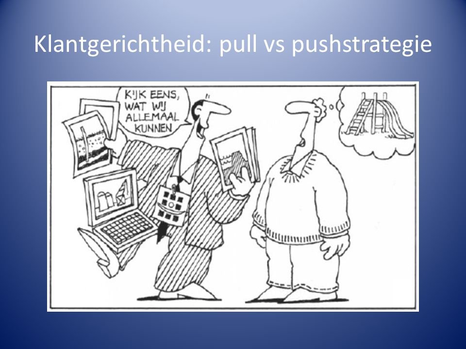 Klantgerichtheid: pull vs pushstrategie