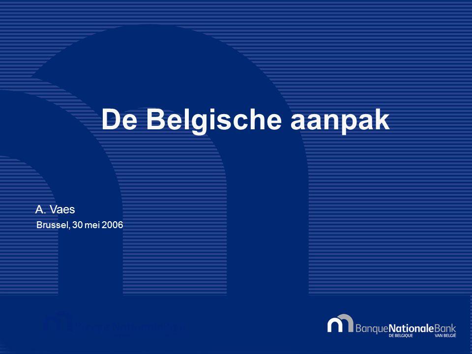 A. Vaes Brussel, 30 mei 2006 De Belgische aanpak
