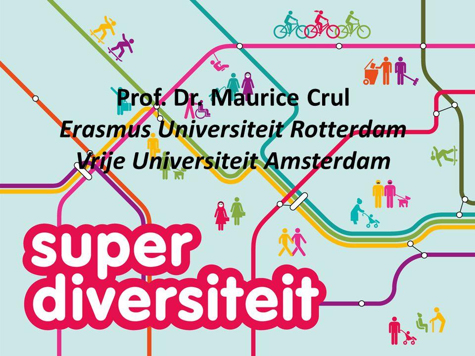 Prof. Dr. Maurice Crul Erasmus Universiteit Rotterdam Vrije Universiteit Amsterdam