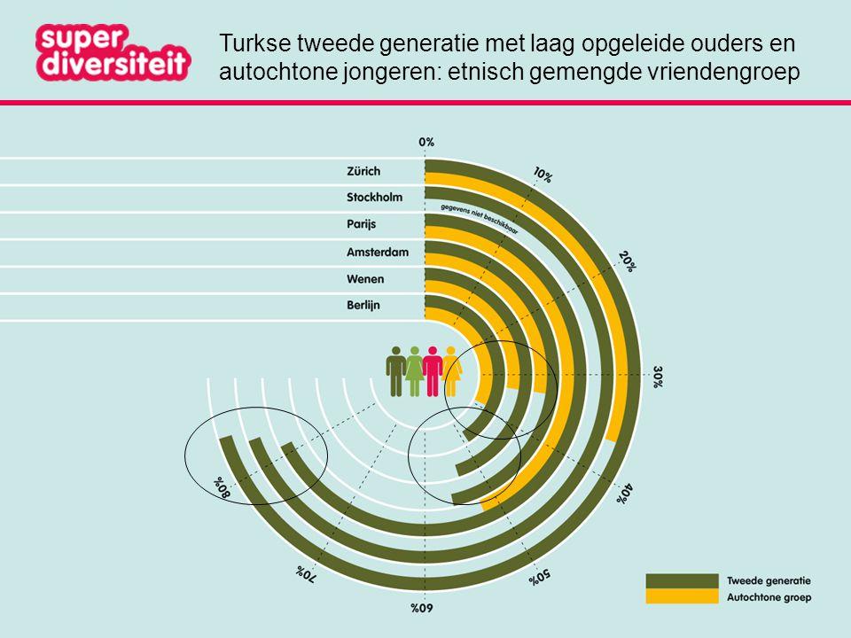 Turkse tweede generatie met laag opgeleide ouders en autochtone jongeren: etnisch gemengde vriendengroep