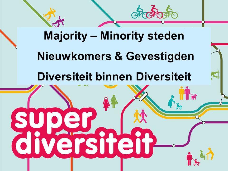 Majority – Minority steden Nieuwkomers & Gevestigden Diversiteit binnen Diversiteit