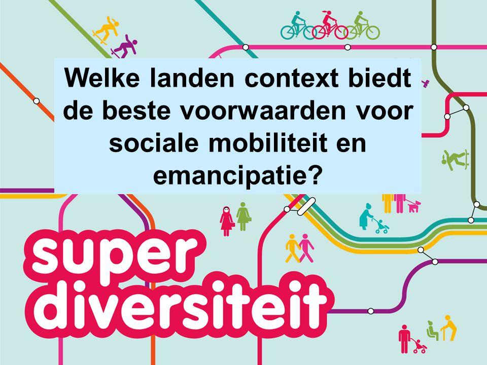 Welke landen context biedt de beste voorwaarden voor sociale mobiliteit en emancipatie?