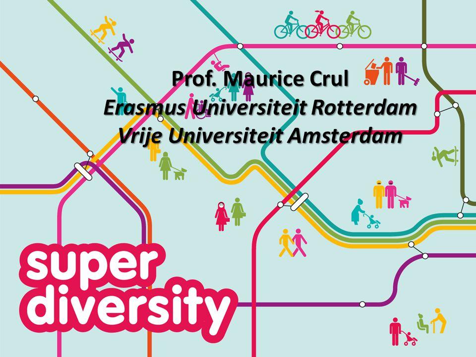 Prof. Maurice Crul Erasmus Universiteit Rotterdam Vrije Universiteit Amsterdam