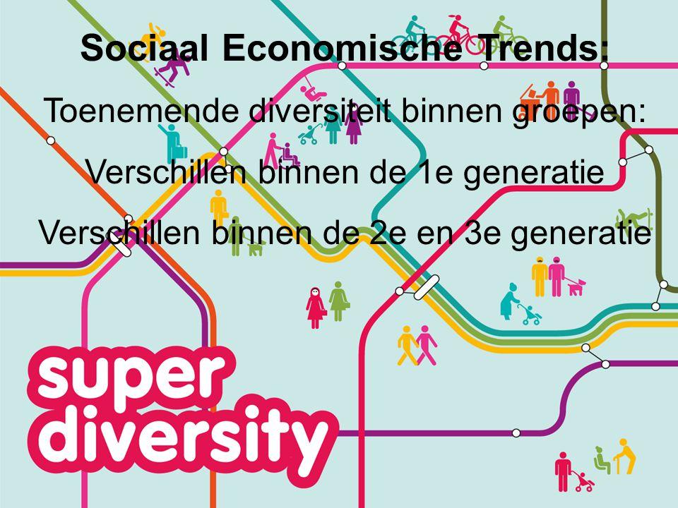 Diversiteit Turkse Gemeenschap Brussel Post-secondair & Universiteit Vader 8% Moeder 2% Secondair Onderwijs Vader 36% Moeder 34% Geen scholing Vader 9% Moeder 22% Hoger Onderwijs 31% Voortijdige schoolverlater 34%
