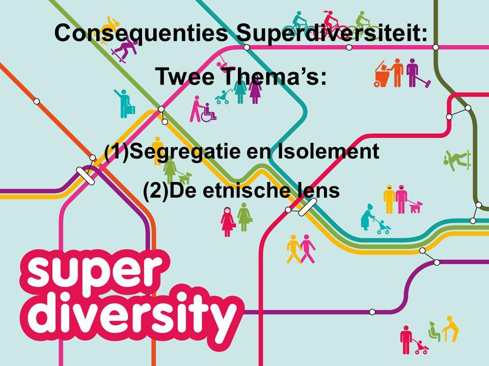 Segregatie: Vriendengroepen Brussel Merendeel eigen etnische groep Geen Belgische vrienden Turkse 2e generatie26%8% Marokkaanse 2e generatie 31%7% Belgische afkomst