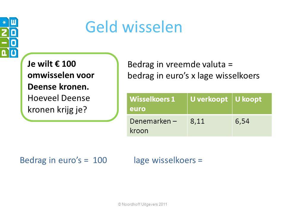 Geld wisselen Je wilt 654 Deense kronen omwisselen voor euro's.
