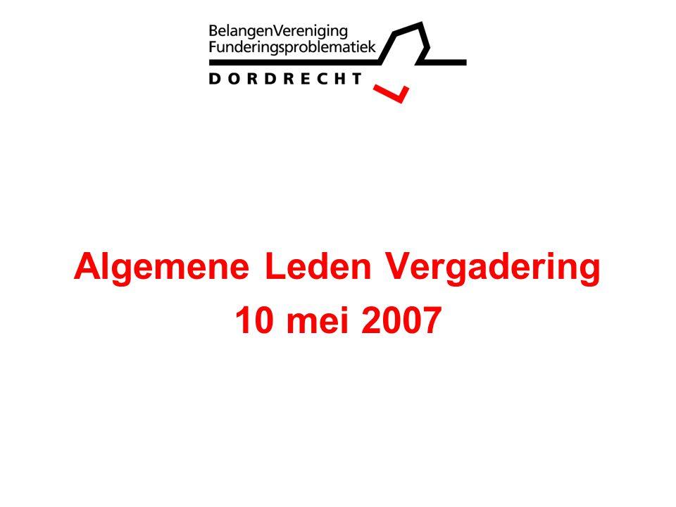 Opening Bestuur van de BVFP en de organisatie Vaststelling notulen ALV 2006 Jaarverslag Stand van zaken rechtszaak Financieel jaarverslag Kascommissie Begroting Vaststelling contributie Vragen.