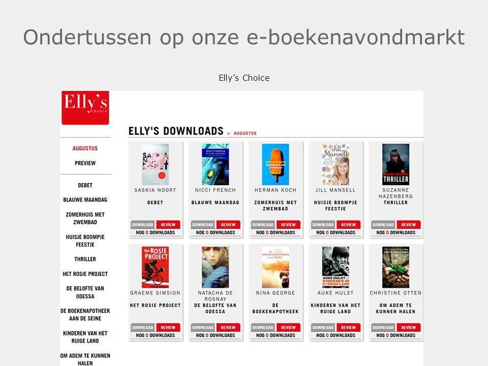 Ondertussen op onze e-boekenavondmarkt Elly's Choice.