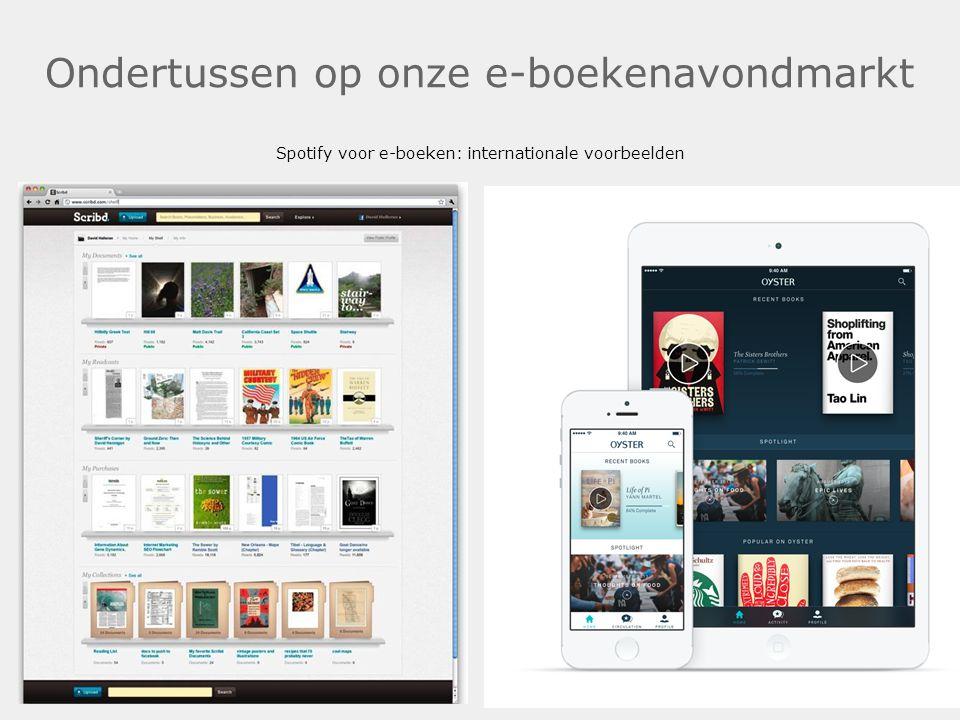 Ondertussen op onze e-boekenavondmarkt Spotify voor e-boeken: internationale voorbeelden.