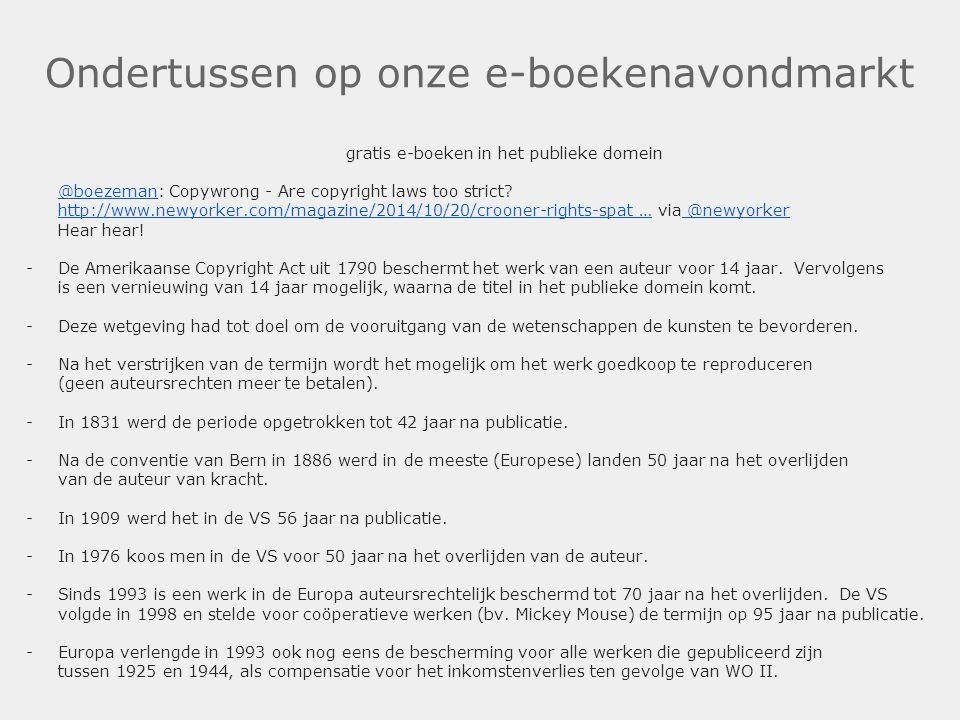 Ondertussen op onze e-boekenavondmarkt gratis e-boeken in het publieke domein @boezeman@boezeman: Copywrong - Are copyright laws too strict? http://ww