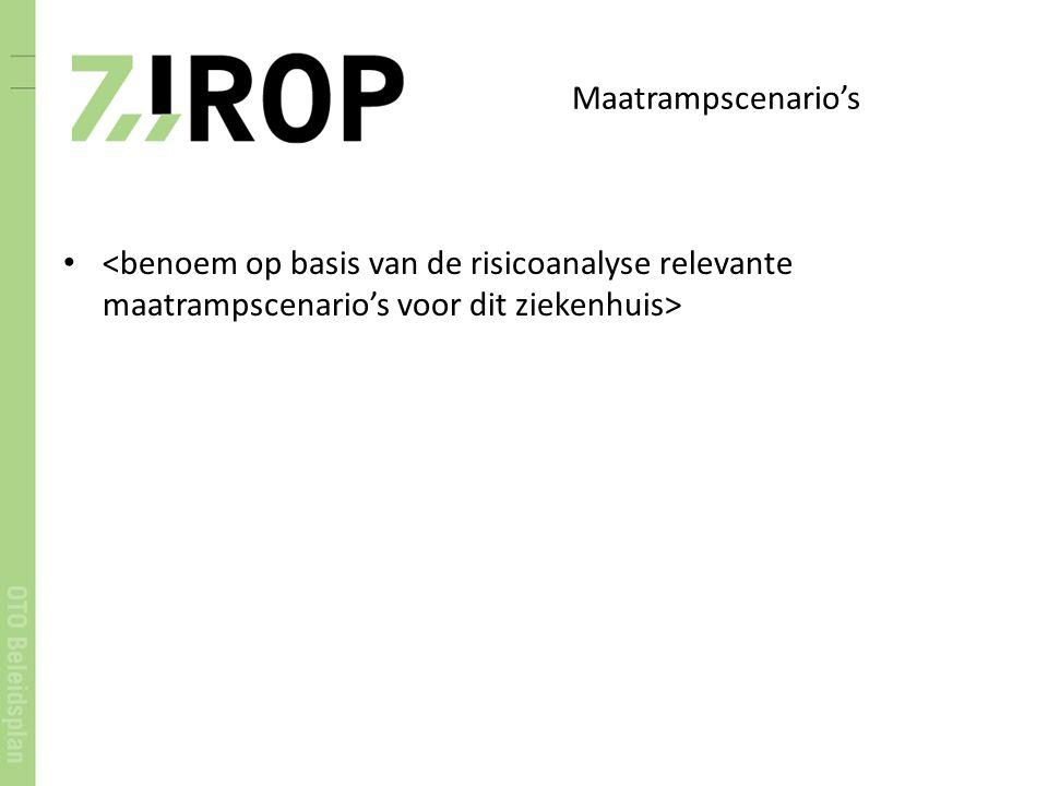 Maatrampscenario's