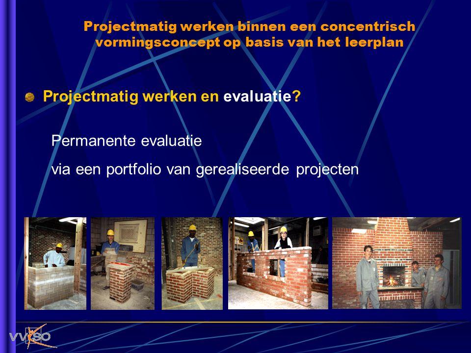 Projectmatig werken en evaluatie? Permanente evaluatie via een portfolio van gerealiseerde projecten