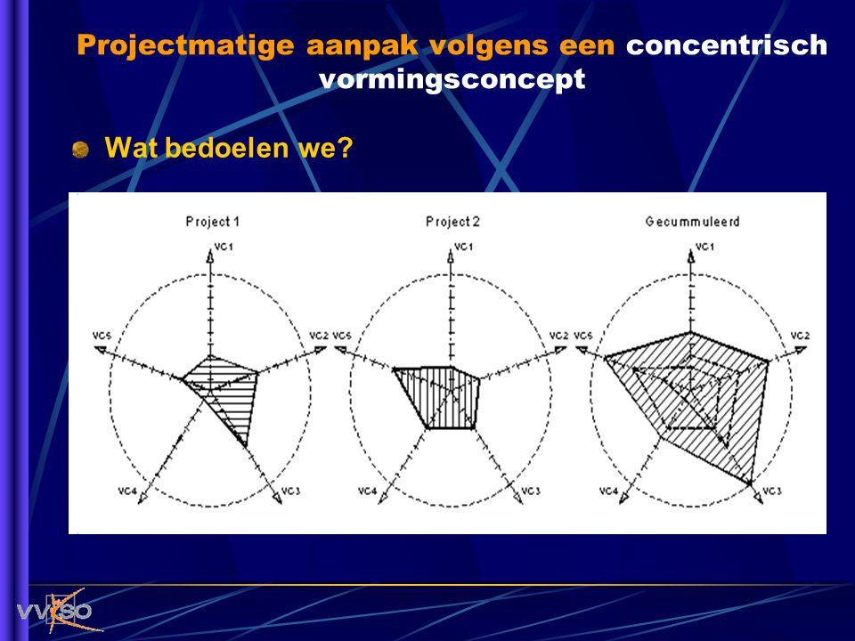 Wat bedoelen we? Projectmatige aanpak volgens een concentrisch vormingsconcept