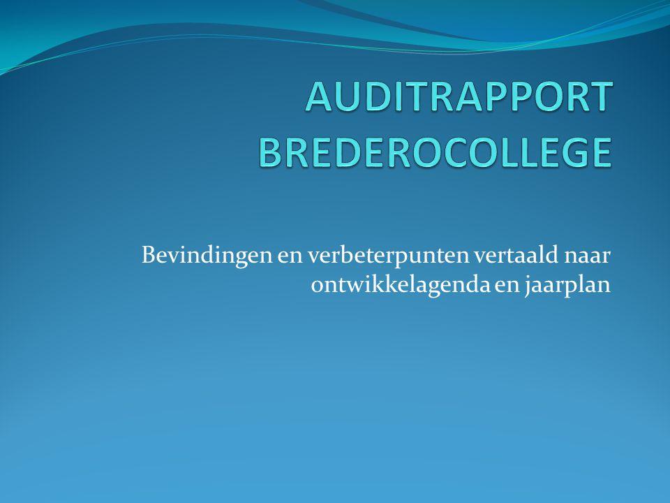 Eindoordeel Kwaliteit van onderwijs op Het Brederocollege is door het audit team beoordeeld als voldoende op basis van de beslisregels van de Inspectie van het Onderwijs