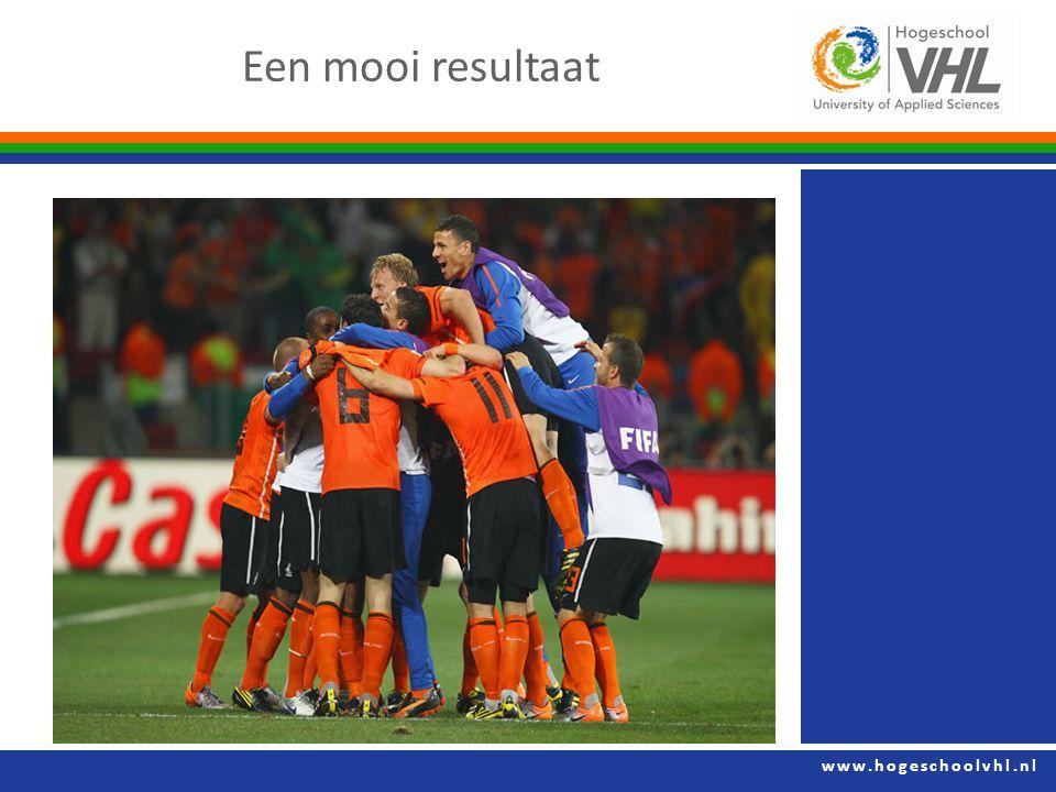 www.hogeschoolvhl.nl Een mooi resultaat