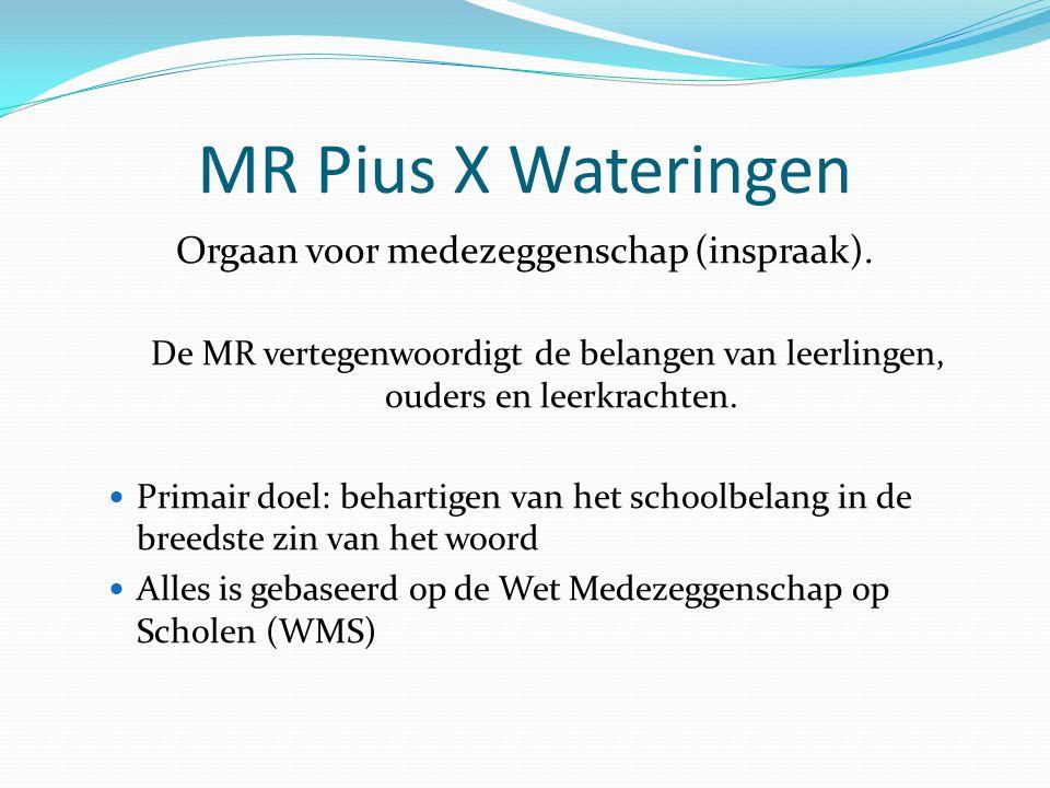 MR Pius X Wateringen Orgaan voor medezeggenschap (inspraak).