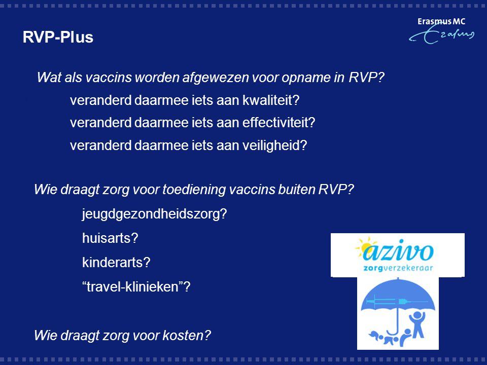 RVP-Plus  Wat als vaccins worden afgewezen voor opname in RVP.
