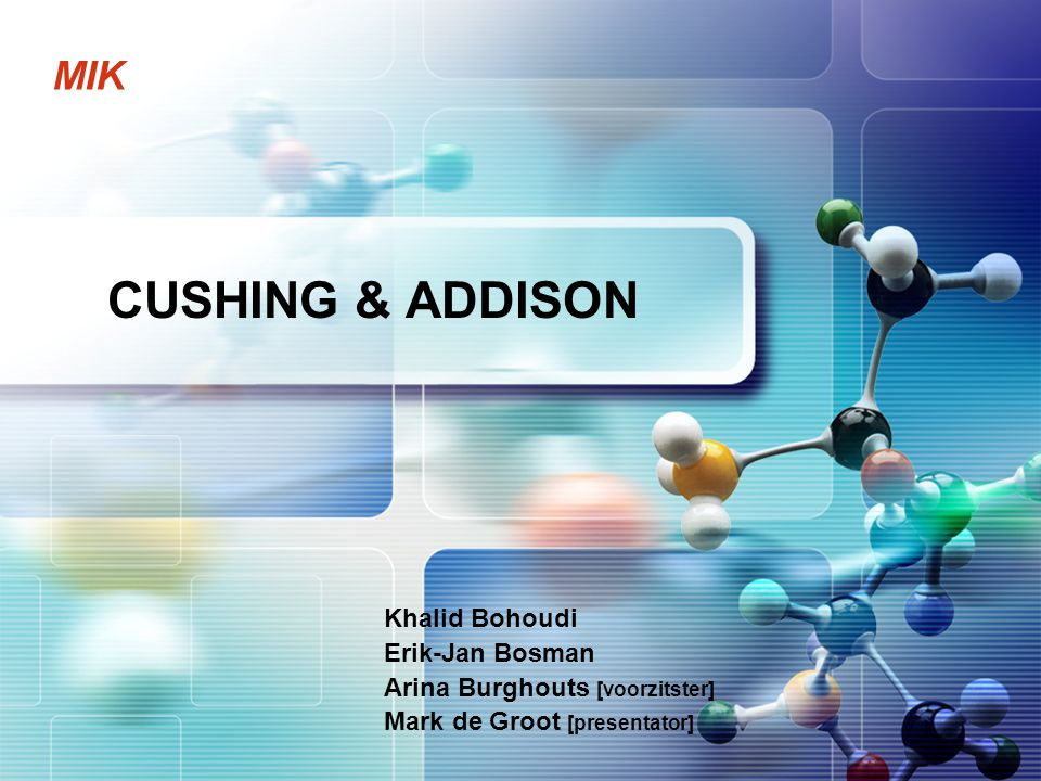 Cushing & Addison 2  Koppeling prekliniek  Cushing vs.