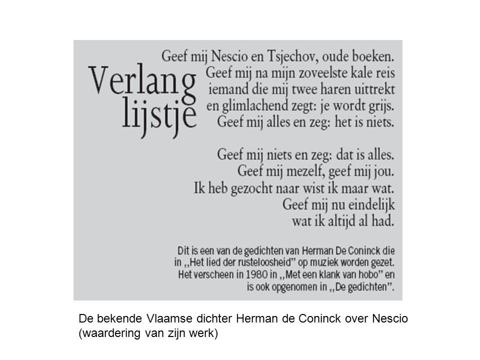 De bekende Vlaamse dichter Herman de Coninck over Nescio (waardering van zijn werk)