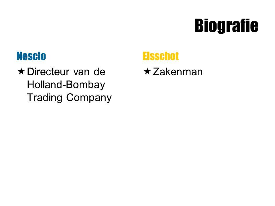 Biografie Nescio  Directeur van de Holland-Bombay Trading Company Elsschot  Zakenman