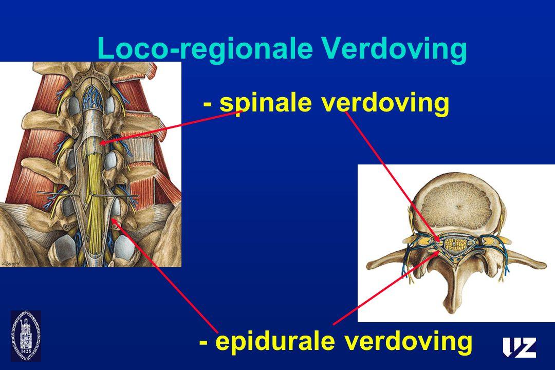 Loco-regionale Verdoving - spinale verdoving - epidurale verdoving
