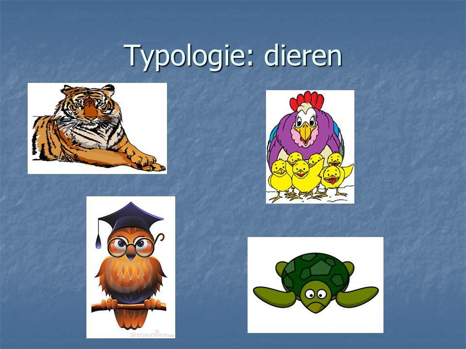 Typologie: dieren