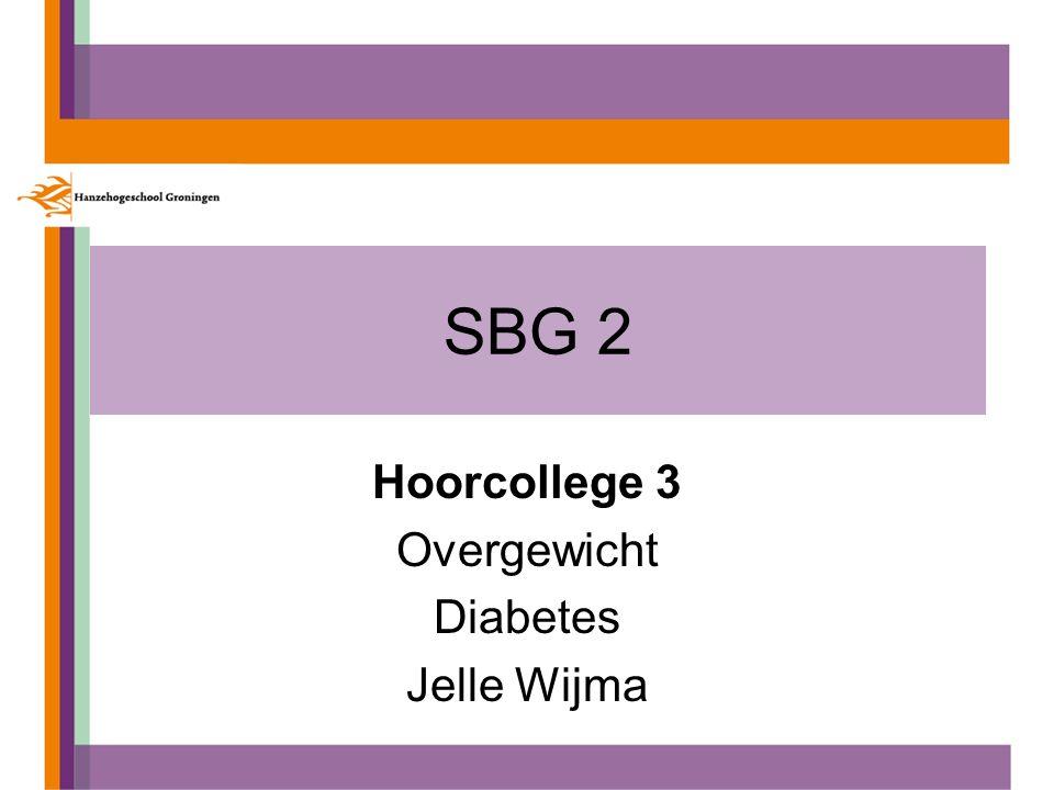 SBG 2 Hoorcollege 3 Overgewicht Diabetes Jelle Wijma