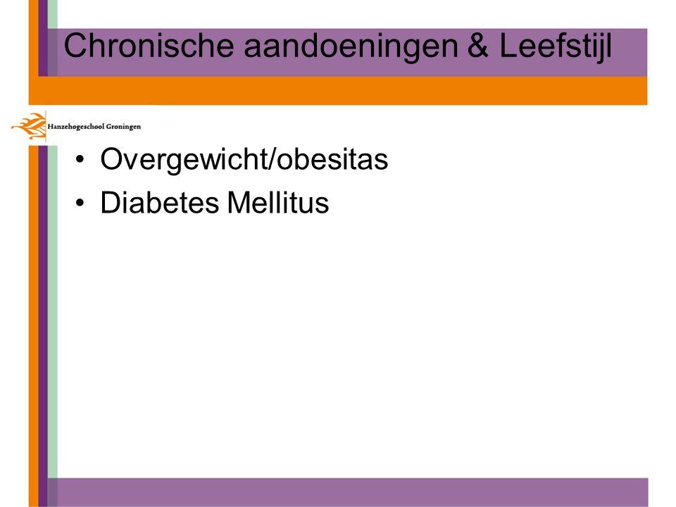 Chronische aandoeningen & Leefstijl Overgewicht/obesitas Diabetes Mellitus