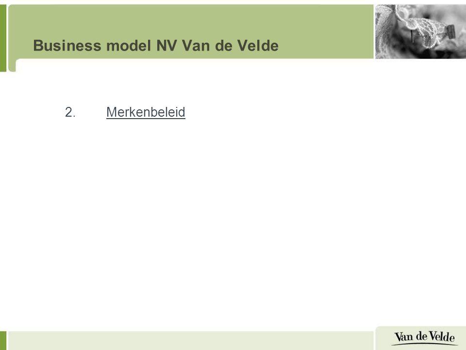 Business model NV Van de Velde 2.Merkenbeleid