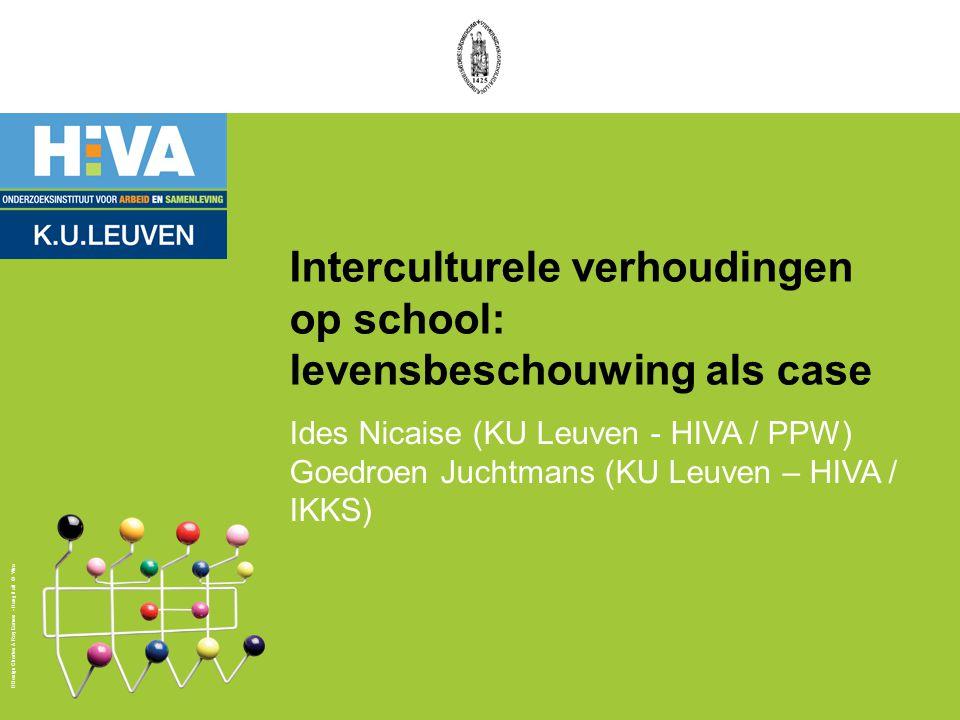 Design Charles & Ray Eames - Hang it all © Vitra Interculturele verhoudingen op school: levensbeschouwing als case Ides Nicaise (KU Leuven - HIVA / PP
