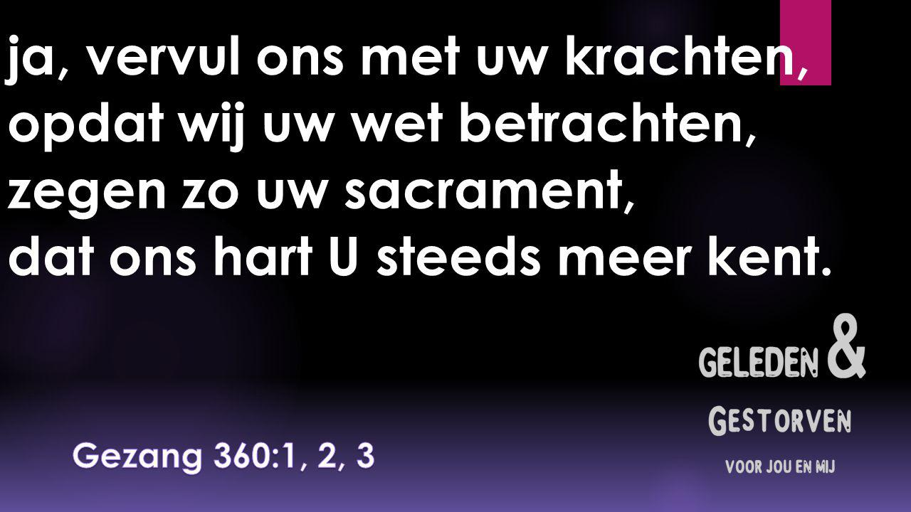 Leer ons, Heer, vrijmoedig spreken over uw verlossend werk; geef dat niet die woorden breken op de daden van uw kerk,
