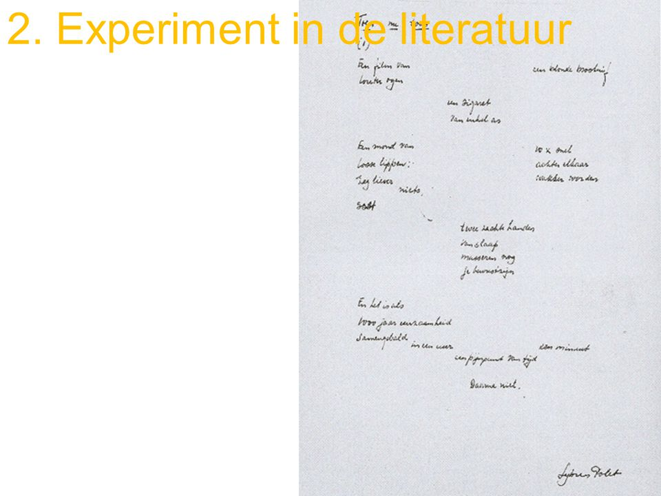 2. Experiment in de literatuur