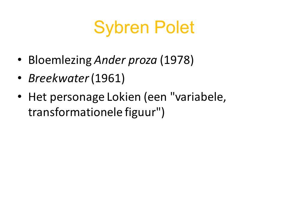 Sybren Polet Bloemlezing Ander proza (1978) Breekwater (1961) Het personage Lokien (een
