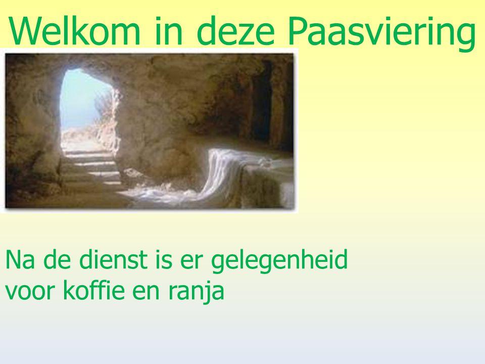 Welkom in deze Paasviering Er is begeleiding van Peter Nieuwenhuis op het orgel er wordt gezongen door Het Gemeentekoor van Baalder Er is een Deurcollecte