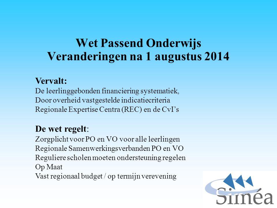 Wet Passend Onderwijs Wat verandert er voor Cluster 2 .