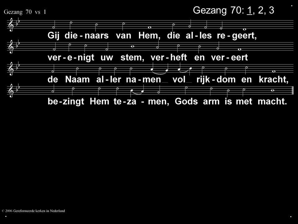 .... COLLECTE Volgende week Is de collecte voor de Kerk Opdragen collecte Zingen:Liedboek 473: 3, 4