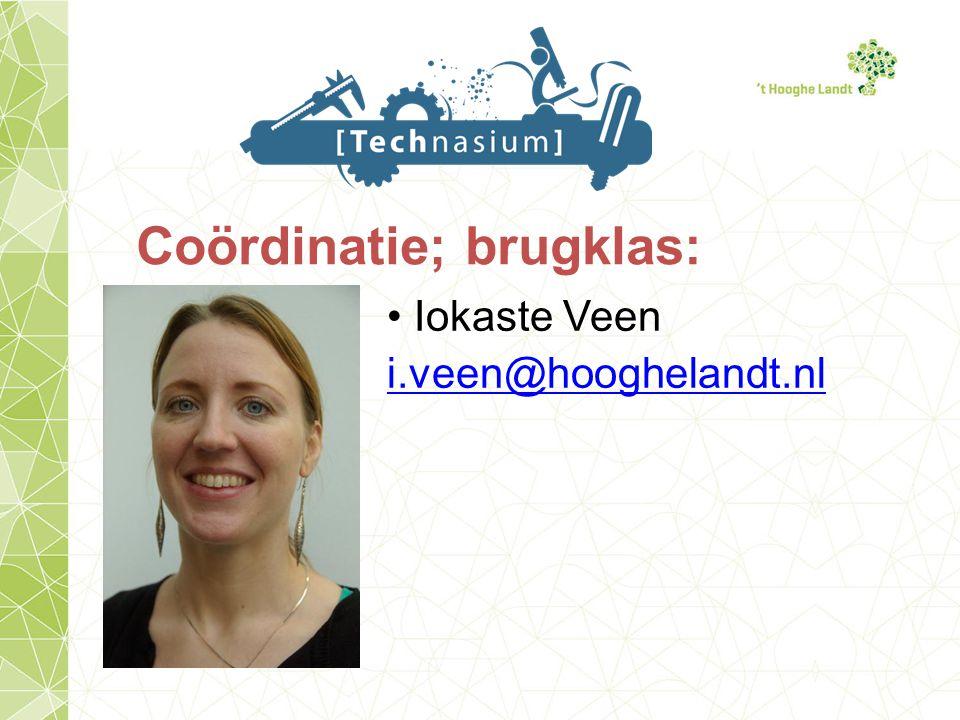 Coördinatie; brugklas: Iokaste Veen i.veen@hooghelandt.nl