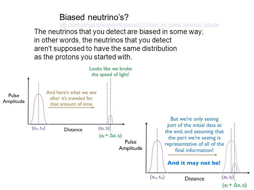 Biased neutrino's.