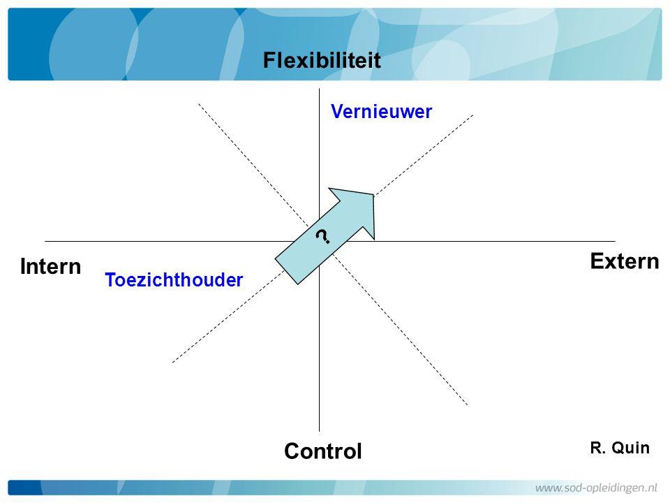 Flexibiliteit Control Intern Extern Vernieuwer Toezichthouder R. Quin ?