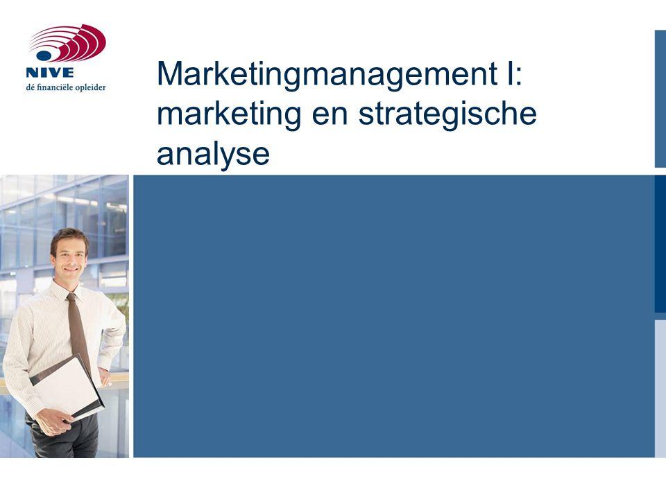 Marketingmanagement I: marketing en strategische analyse