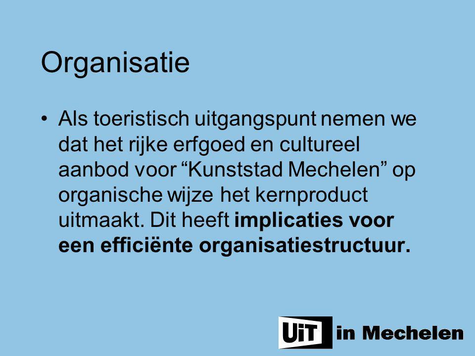 """Als toeristisch uitgangspunt nemen we dat het rijke erfgoed en cultureel aanbod voor """"Kunststad Mechelen"""" op organische wijze het kernproduct uitmaakt"""