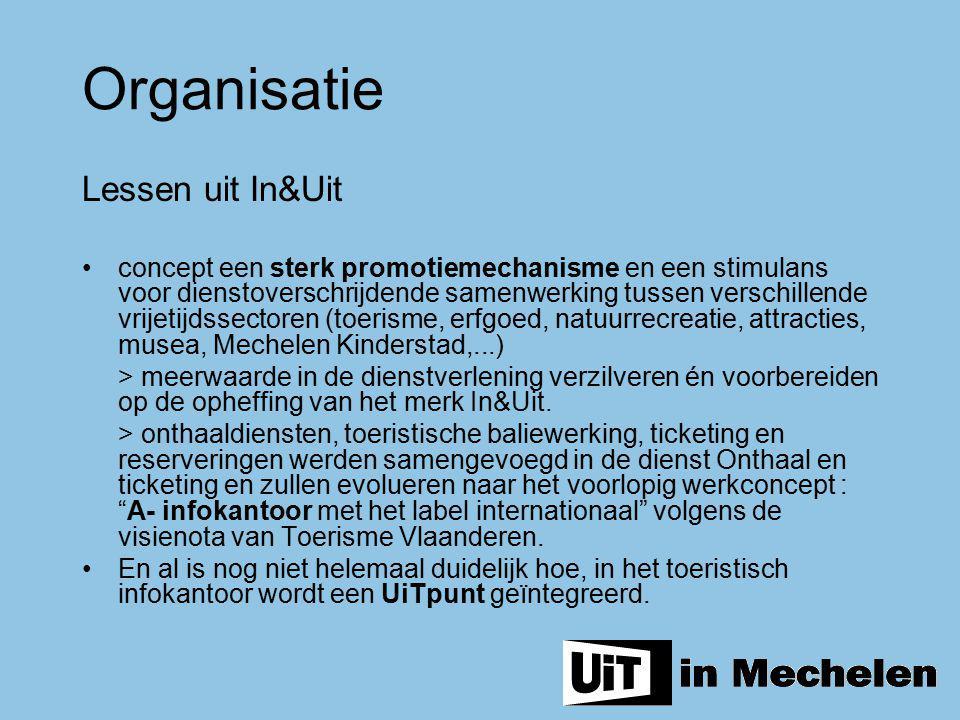Lessen uit In&Uit concept een sterk promotiemechanisme en een stimulans voor dienstoverschrijdende samenwerking tussen verschillende vrijetijdssectore