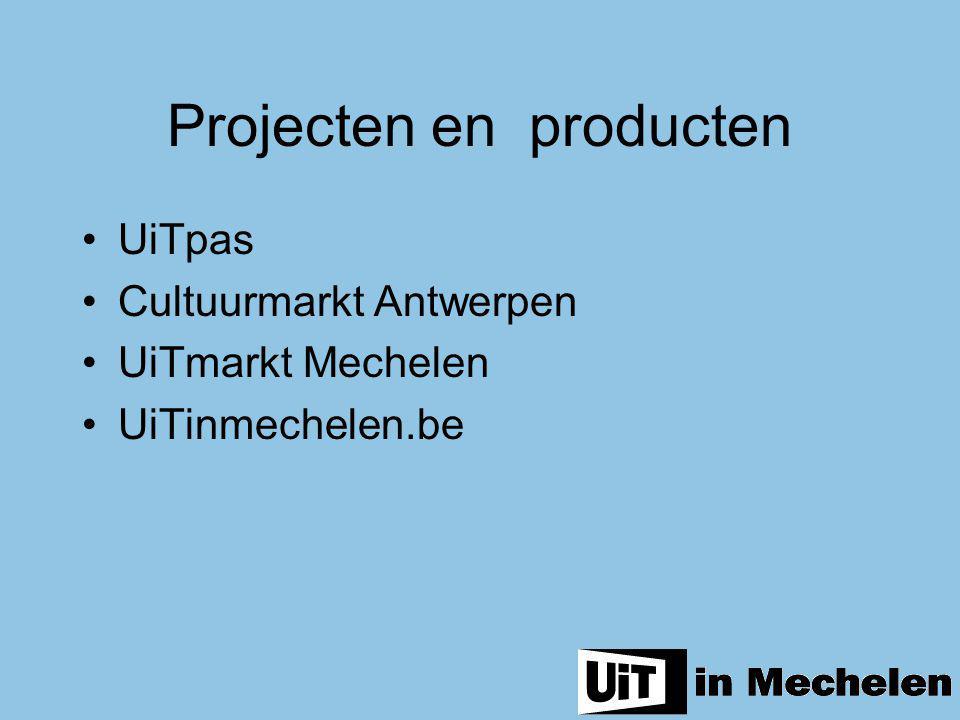 Projecten en producten UiTpas Cultuurmarkt Antwerpen UiTmarkt Mechelen UiTinmechelen.be